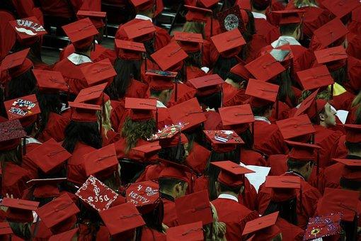 Graduates, Graduation, Cap And Gown
