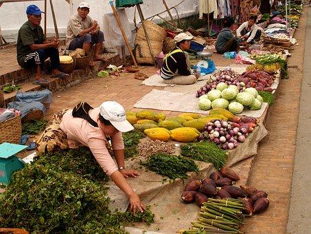 Luang Prabang, Laos, Town, Phabang, Asia, City, Market