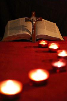 Candle, Lead, Path, Cross, Crucifix, Bible, Light