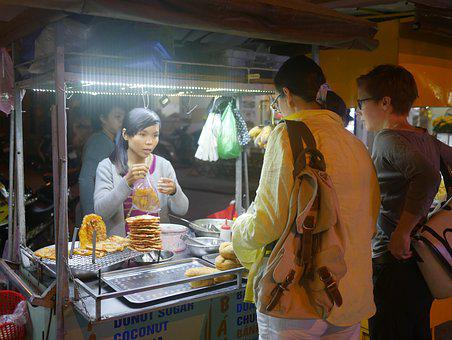 Laos, Luang Prabang, Dew Point, Street Food, People