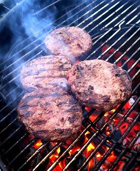 Burger, Hamburger, Grill, Barbecue, Flame, Embers