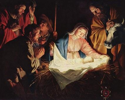 Christmas, Crib, Stall, Bethlehem, Father Christmas