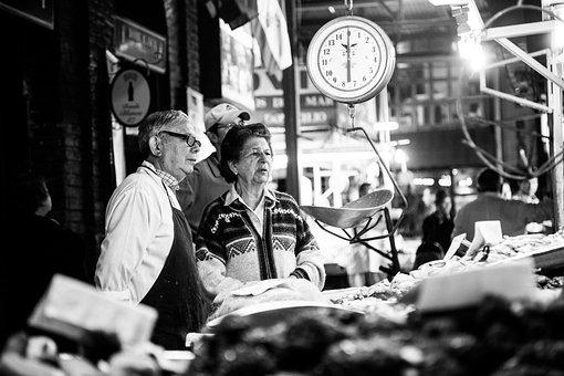 Fish Market, Market, Traditionally, Spain, Fish, Frisch