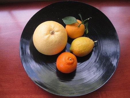 Fruit, Orange, Mandarin Orange, Grapefruit, Lemons