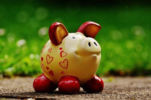Piggy Bank, Heart, Funny, Ceramic, Save, Savings Bank