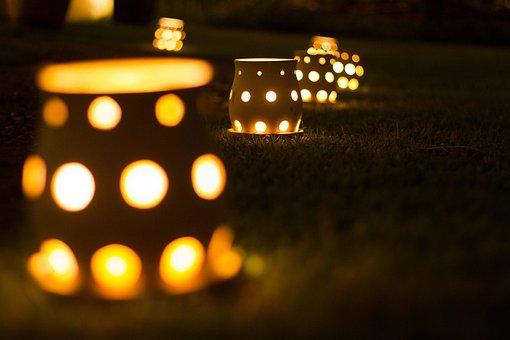 Evening, Light, Candle, Art, Glow, Golden, Illuminated