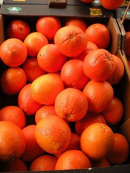 Greengrocer, Fruit Crate, Oranges, Fresh Orange, Sweet