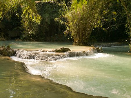 Laos, Luang Prabang, Waterfall