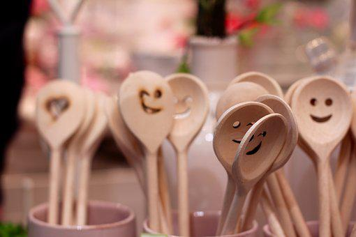 Spoon, Laugh, Face, Wooden Spoon, Cheerful