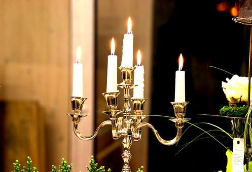 Candle Holders, Candles, Light, Romantic, Shining