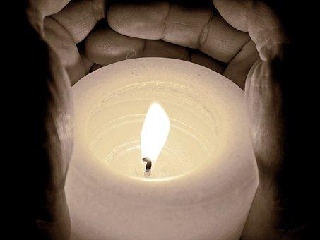 Candle, Light, Burn, Flame, Dark, Shining, Hands