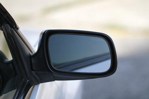 Car, Automotive, White, Sedan, Operation, Mirror