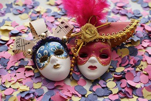 Mask, Carnival, Confetti, Colorful, Venice, Mysterious