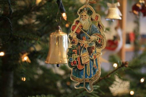 Santa Claus, Nicholas, L310, Bell, Christmas Ornaments