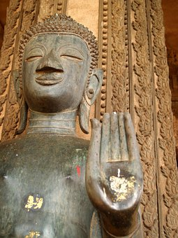 Buddha, Laos, Indochina, Sculpture, Oriental, Vientiane