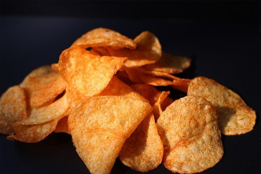 Party Pastries, Potato Chips, Crispy, Salty Snack