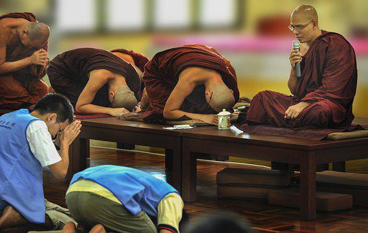 Theravada Buddhism, Pay Respect, Homage, Respectfully
