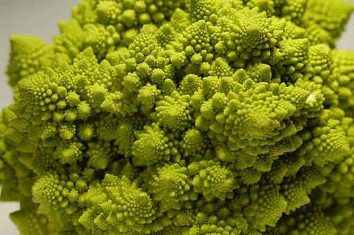 Romanesco Broccoli, Green, Roman Cabbage, Vegetables