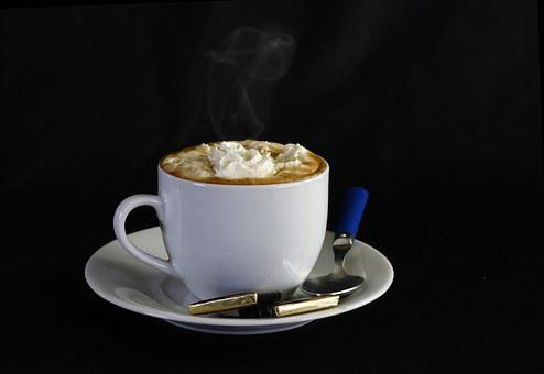 Coffee, Shell, Spoon, Plate, Saucer, Treat, Sweet, Cup