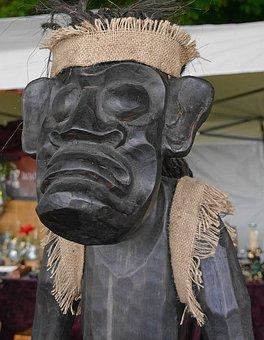 Sculpture, Wood Sculpture, Servant, African Figure