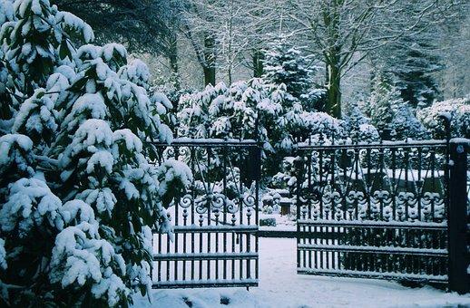 Goal, Winter, Snow, Old Door, Input, Snowy, Germany