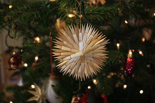 Strohstern, Christmas Ornaments, Christmas Card