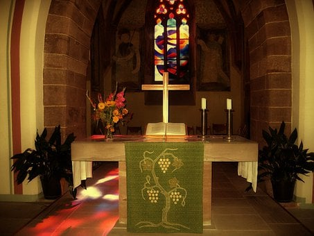 Church, Gootehaus, Altar, Window, Candles, Faith