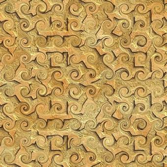 Carving, Pattern, Curly, Design, Vintage