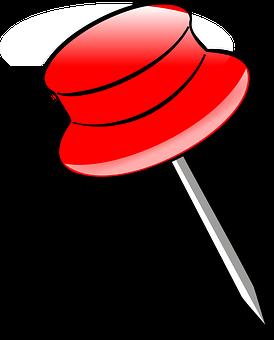 Drawing-pin, Pushpin, Push Pin, Tack, Office, Fixation