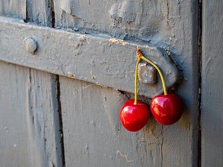 Cherry Pair, Pair, Door, Male, Form, Female, Vintage