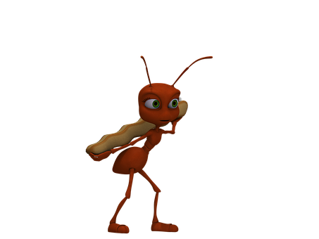 Ant, Insect, Red Ant, Funny, Cartoon