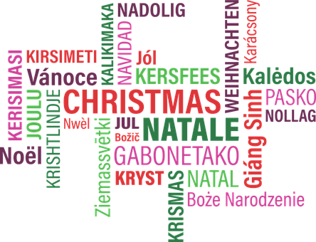 Graphic, Christmas, Typographic, Green, Red, Pink