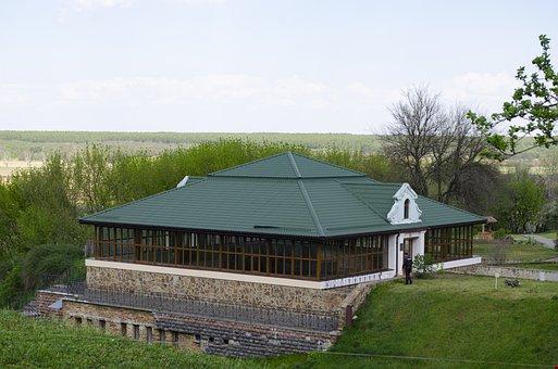 House, Rakurs, Grass, Sky, Landscape
