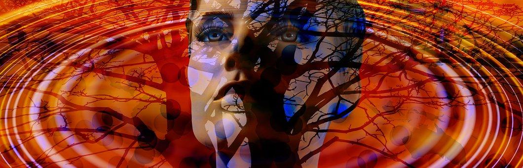 Head, Face, Person, Tree, Mirroring, Mirror, Wave