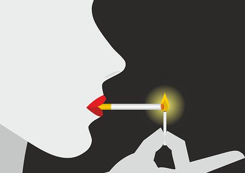 Smoking, Cigarette, Match, Fire, Embers