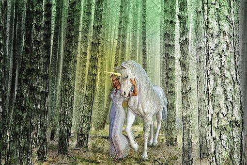 Fairy Tales, 3d, Princess, Unicorn, Fantasy, Myth
