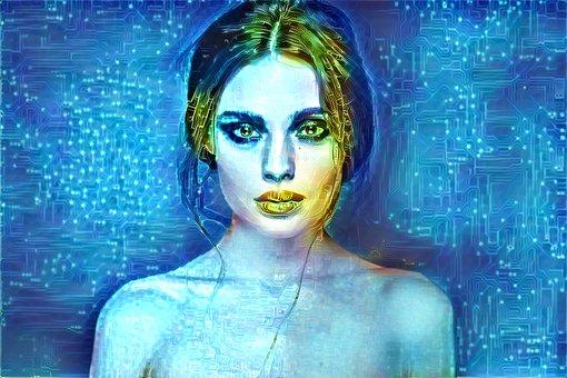 Woman, Portrait, Sci-fi, Model, Technology, Female