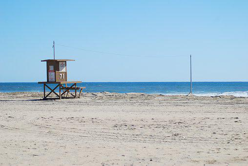 Beach, Lifeguard, California, Ocean