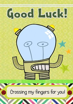 Greeting Card, Fun, Good Luck, Message, Celebration