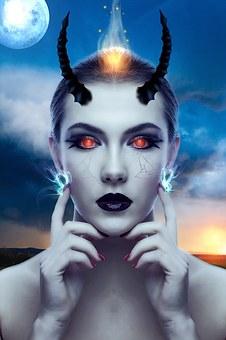 Gothic, Fantasy, Dark, Girl, Female, Devil Lady
