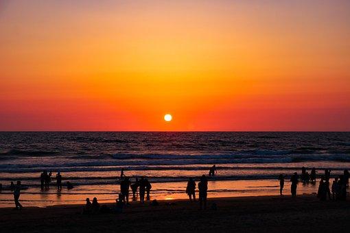 Goa Beaches, Sunset, Beautiful Nature, Seashore, India