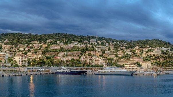 Nice, France, Boats, Sea, Mediterranean, City
