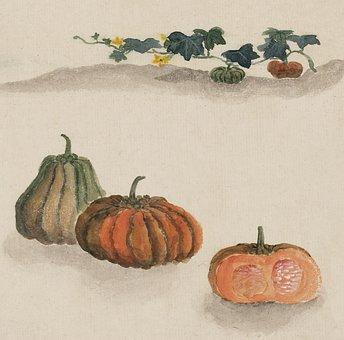 Watercolour, Watercolor, Art, Painting, Vintage