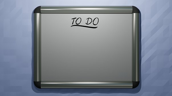 Whiteboard, To-do List, Office, Office Sign