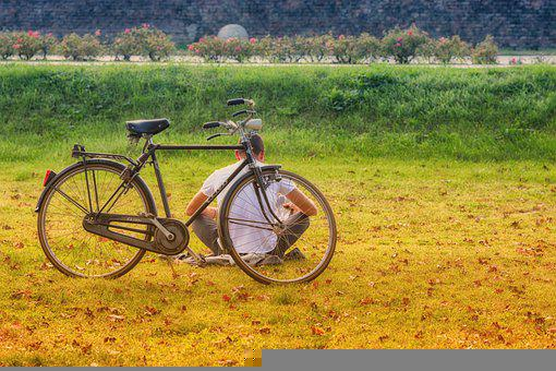 Bike, Relaxation, Nature, Bicycle Touring, Rest, Man