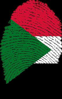 Sudan, Flag, Fingerprint, Country, Pride, Identity