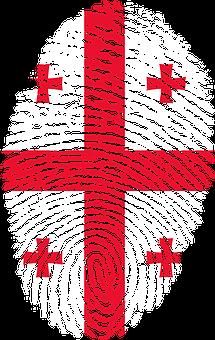 Georgia, Flag, Fingerprint, Country, Pride, Identity