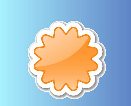 Orange, Info, Sticker, Information, Message, Embassy