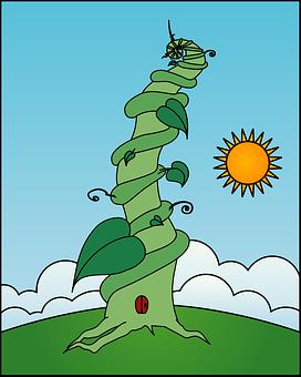 Beanstalk, Stalk, Creeper, Jack, Stem, Leaf, Growth