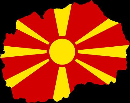 Map, Flag, Macedonia, Macedonian